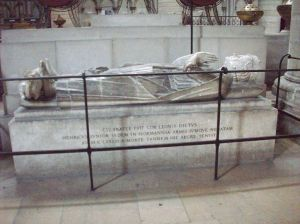 Tomb and effigy of Henry in the Rouen cathedral